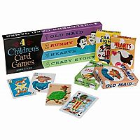 4 Childrens Card Games Set