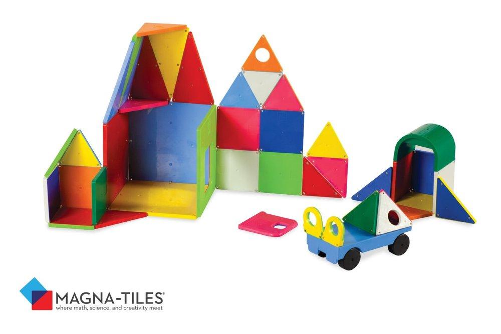 Magna Tiles Solid Colors 48 Piece Set Automobuild